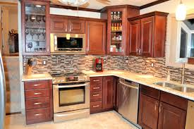 Integrated Wine Cabinet Kitchen Tile Backsplash Ideas With Dark Cabinets Built In Wine