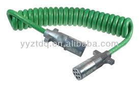 12 ft 7 way electrical coiled spiral trailer cable assembly 12 ft 7 way electrical coiled spiral trailer cable assembly die cast plugs buy trailer cable 7 core trailer cable tractor trailer cable product on