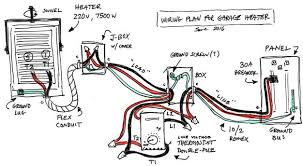 garage heater wiring plan skye cooley fine woodworking i think this is how it should go but change the wire gauge to 6 and breaker size to 40a based on the answers to these two questions