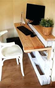 pallets made into furniture. Build A Desk Out Of Pallets Made Into Furniture Love This Idea For I
