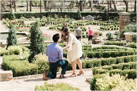 proposal at fort worth botanic gardens