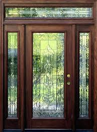 custom front doors wood and glass