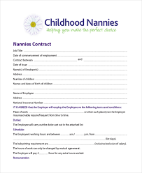 Sample Nanny Contracts Major Magdalene Project Org