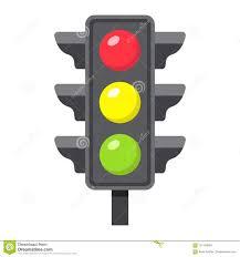 Graphic Traffic Light Traffic Light Flat Icon Stoplight And Navigation Stock