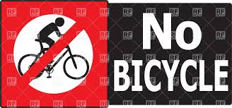 No Cyclists Sign Not Allowed Any Bicycle Pass In This Area Or Road Stock Vector Image