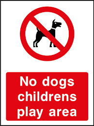 No Dogs Childrens Play Area Sign Health And Safety Signs