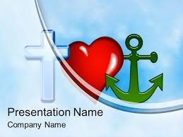 Heart Powerpoint Templates Free Cross Heart Anchor Powerpoint Template Backgrounds