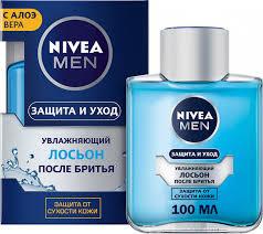 <b>Лосьон после бритья</b> Nivea Men Защита и уход <b>увлажняющий</b> с ...
