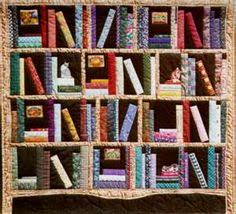 A wonderful bookshelf quilt, complete with cat! Antrim-book ... & A wonderful bookshelf quilt, complete with cat! Antrim-book-quiltWEB | bookshelf  quilt | Pinterest | Shelves, Quilt and Favorite things Adamdwight.com