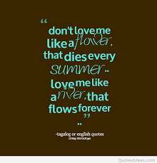 Forever Love Quotes Classy Summer Love Forever Tagalog Quote