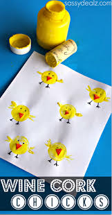 easy easter crafts for two year olds. wine cork chicks craft for kids easy easter crafts two year olds
