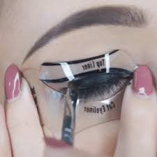 original cat eyeliner stencil khaila nicole makeup