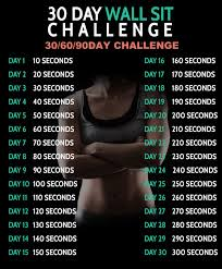 30 Day Wall Sit Challenge 306090 D