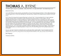 5 6 Cover Letter For Usps Job Application Formatmemo