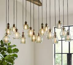 paxton glass 16 light pendant pottery barn with lights plans 7