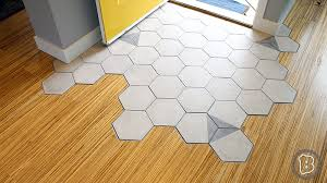 after seeing numerous photos of hexagon tiles organically transitioning into hardwood flooring