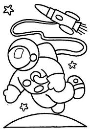 Small Picture An Astronaut in the Moon Orbit Coloring Page Download Print