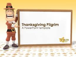 Powerpoint Templates 2007 Thanksgiving Pilgrim A Powerpoint Template From Presentermedia Com