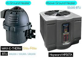 above ground pool water heater thrm abov