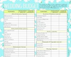 Wedding Budget Template Excel South Africa Checklist And Budgets
