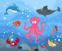 Image result for cartoon under the sea