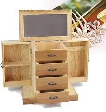 images gallery large oak wood finish wardrobe style wooden jewellery box