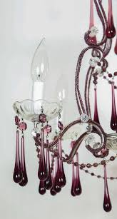 american chandelier with purple glass crystals for