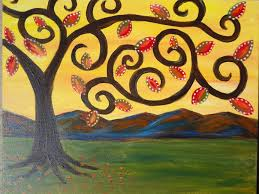 painting lessons guided acrylic painting for beginners whimsical tree creativejuicesarts you