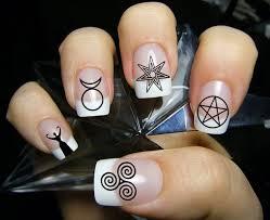 63 Mixed WICCAN Symbols Nail Art MWB Magic Goth Waterslide