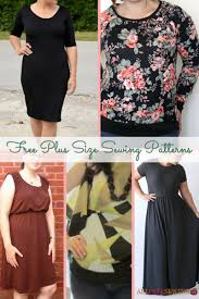 Plus Size Dress Patterns Classy 48 Free Plus Size Sewing Patterns AllFreeSewing