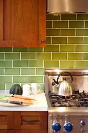 Green Apple Decorations For Kitchen White Subway Tile Backspalsh Brown Black Granite Countertop