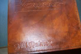 custom leather portfolio with business logo and personalization