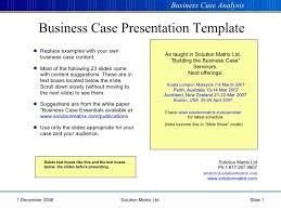 Free Case Template Template For Business Case Presentation Business Case Template