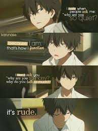 Anime Hyouka Character Hotaro Oreki This Anime Always Has Amazing Anime With Rude Quote