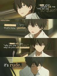 Anime Hyouka Character Hotaro Oreki This Anime Always Has Amazing Anime With Rude Quote