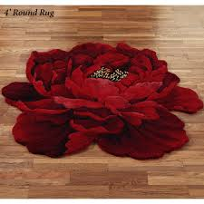 red circle rug circular rugs for round dining room area large foot decoration small floor mats plush living s