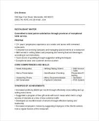Gallery Of Describe Waiter Job Resume Server Resume Examples