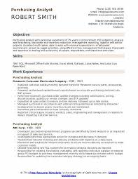 Resume Purchasing Purchasing Analyst Resume Samples Qwikresume