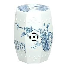 white garden stool blue and white garden seat cherry blossom garden stool blue white blue and white garden stool