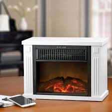 mini electric fireplace heater. 13quot; Freestanding White Color Tabletop Mini Electric Fireplace Heater