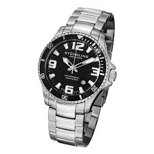 stuhrling original men s professional diver watches 48 99 for stuhrling original men s professional divers watch stainless steel band black bezel gp12719 425 list price