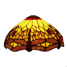 Golden Dragonfly Small Tiffany Replacement Table Lamp Shade