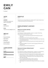 12 Free Restaurant Hostess Resume Samples Different Designs