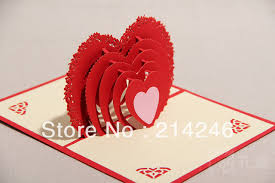 whole 3d greeting cards handmade origami heart card fancy creative gift for valentine s day wedding