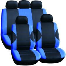 chevron seat covers car seat piece lo back car seat cover set black blue design front