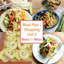 Family Meal Plans Easy Family Meal Plan 2 With Shopping List Bless This Mess
