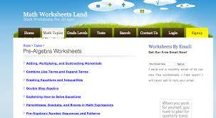 math worksheets land pre algebra worksheets