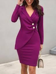 LaceShe Women's V-Neck Stitching 3/4 Sleeve Dress | мода ...