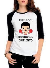 Camiseta Raglan 3/4 Cuidado namorado ciumento no Elo7 | Camisetas  Personalizadas (C238EE)