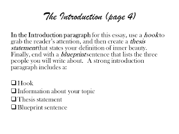 descriptive essay on heroism essay planning write a standard paragraph for this essay use a hook to grab the reader s attention and then create a thesis statement that states your definition of inner beauty